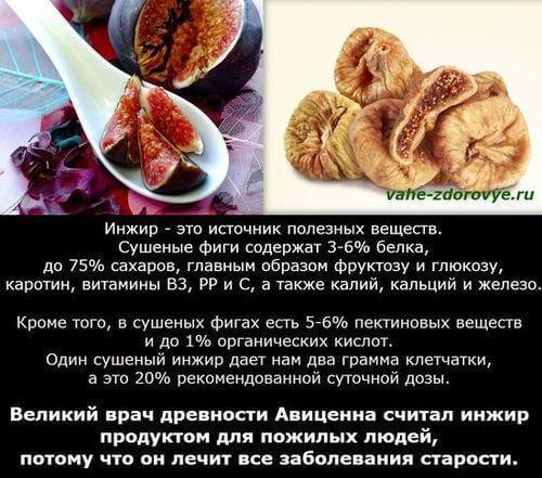 инжир польза и вред, калорийность